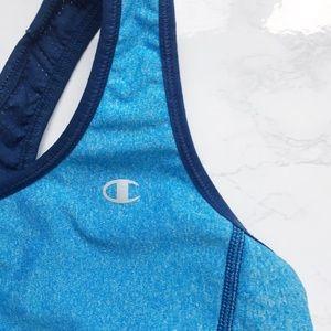 Blue Women's CHAMPION Reversible Sport Bra Small